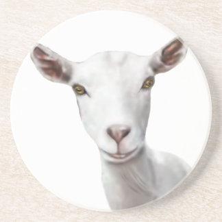 Saanen Goat Sandstone Coaster