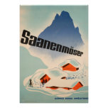 Saanenmöser Switzerland Vintage Travel Poster