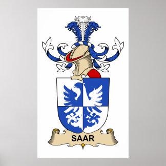 Saar Family Crest Poster