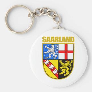 Saarland Basic Round Button Keychain