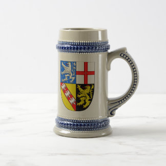 Saarland coat of arms beer stein