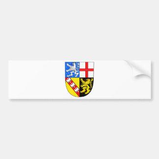 Saarland coat of arms bumper sticker