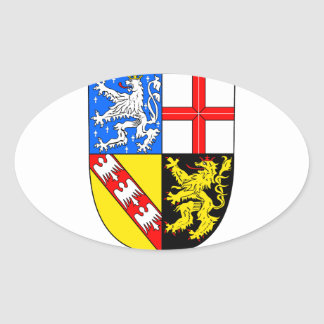 Saarland coat of arms oval sticker