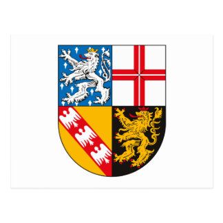 Saarland Coat of Arms Postcard
