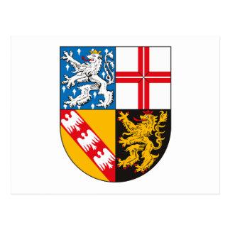 Saarland Coat of Arms Postcard