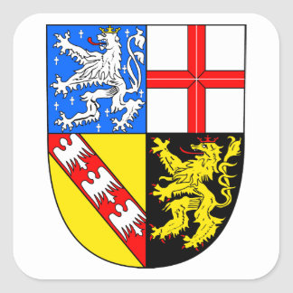Saarland coat of arms square sticker