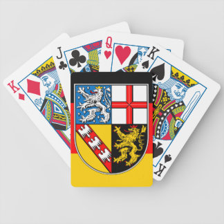 Saarland flag bicycle playing cards