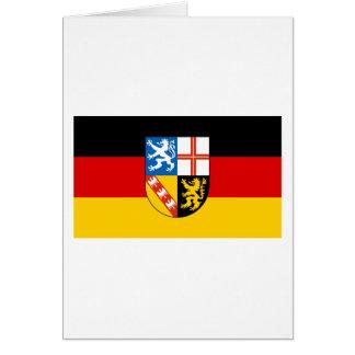 Saarland Flag Card