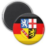 Saarland Flag Gem Magnets