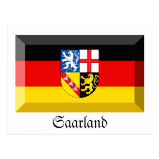 Saarland Flag Gem Postcard