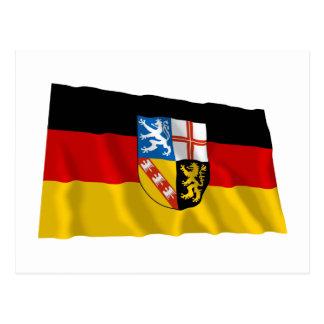 Saarland Flag Postcard