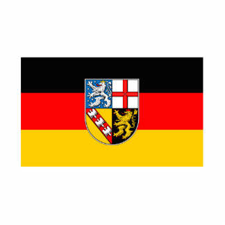 Saarland flag statuette