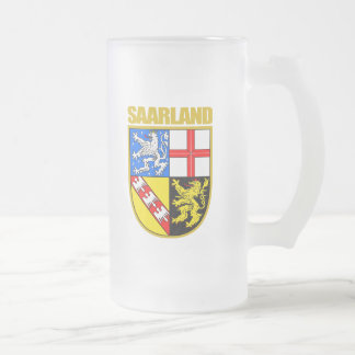 Saarland Frosted Glass Beer Mug