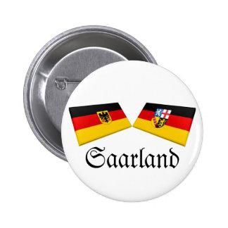 Saarland, Germany Flag Tiles Button