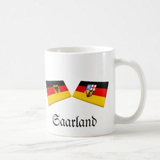 Saarland, Germany Flag Tiles Coffee Mug