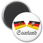 Saarland, Germany Flag Tiles Fridge Magnet