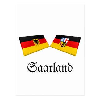 Saarland, Germany Flag Tiles Postcard
