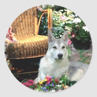 Saarlooswolfhond Art Gifts Classic Round Sticker