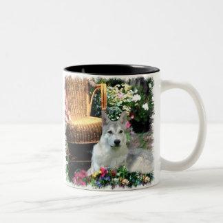 Saarlooswolfhond Art Gifts Two-Tone Coffee Mug