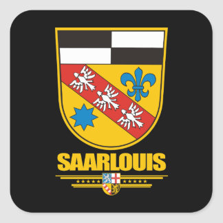 Saarlouis Kreis COA Square Sticker