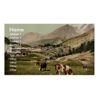 Saas Fee a landscape Valais Alps of Switzerlan Business Cards
