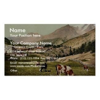 Saas Fee a landscape Valais Alps of Switzerlan Business Card