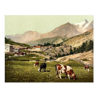 Saas Fee, a landscape, Valais, Alps of, Switzerlan Postcard