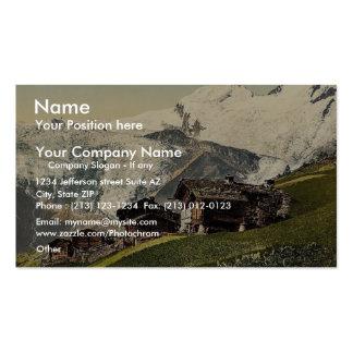 Saas Fee alpine view Valais Alps of Switzerlan Business Cards