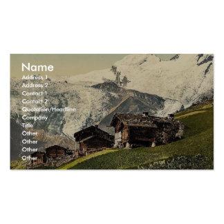 Saas Fee alpine view Valais Alps of Switzerlan Business Card Template