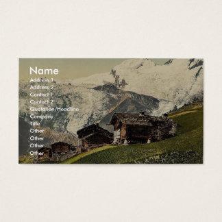 Saas Fee, alpine view, Valais, Alps of, Switzerlan Business Card