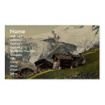Saas Fee, alpine view, Valais, Alps of, Switzerlan Double-Sided Standard Business Cards (Pack Of 100)