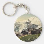 Saas Fee, alpine view, Valais, Alps of, Switzerlan Keychain