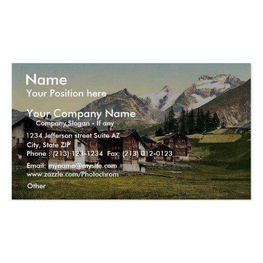 Saas Fee, Sennhutten, Valais, Alps of, Switzerland Business Card Template