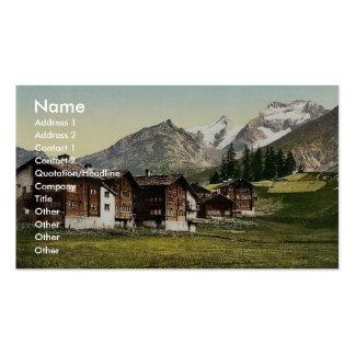 Saas Fee Sennhutten Valais Alps of Switzerland Business Cards