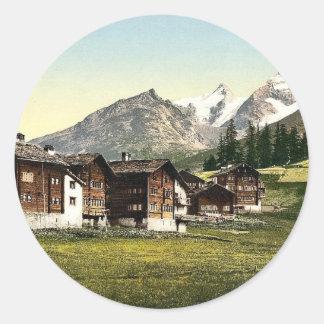 Saas Fee, Sennhutten, Valais, Alps of, Switzerland Classic Round Sticker