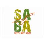 Saba DWI Tarjeta Postal