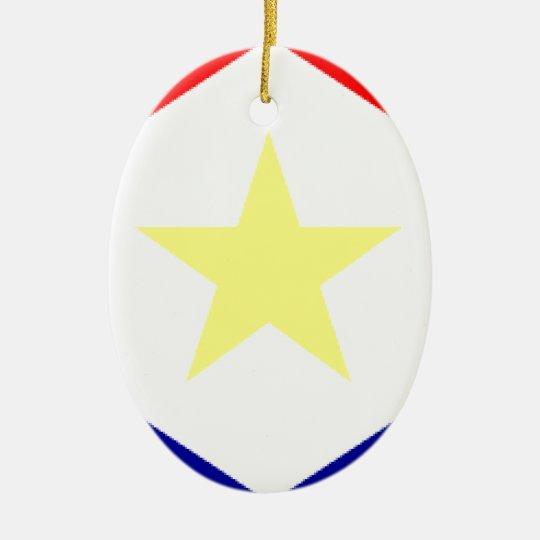 Saba Flag Ceramic Ornament