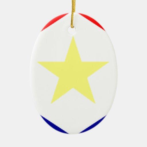 Saba Flag Ornaments