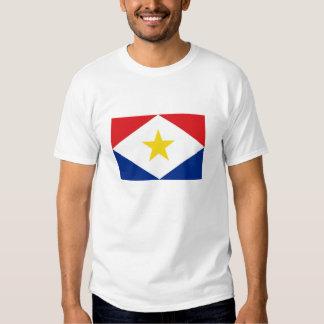 saba island flag Netherlands country region Tshirt
