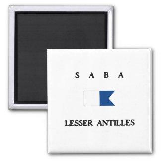 Saba Lesser Antilles Alpha Dive Flag 2 Inch Square Magnet