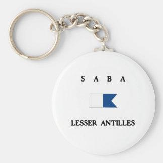 Saba Lesser Antilles Alpha Dive Flag Keychain