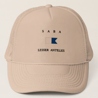 Saba Lesser Antilles Alpha Dive Flag Trucker Hat