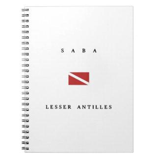 Saba Lesser Antilles Scuba Dive Flag Note Books