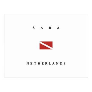 Saba Netherlands Scuba Dive Flag Postcard
