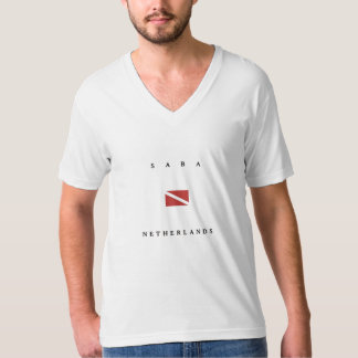 Saba Netherlands Scuba Dive Flag Tee Shirt