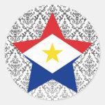 Saba Star Round Stickers