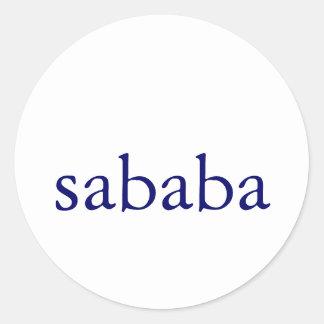 sababa pegatina redonda