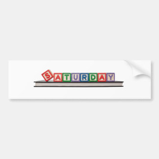 Sábado Pegatina Para Auto