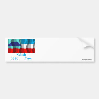 Sabah waving flag with name car bumper sticker