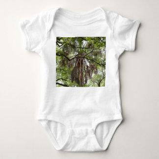 sabal palm through live oak branches tree baby bodysuit
